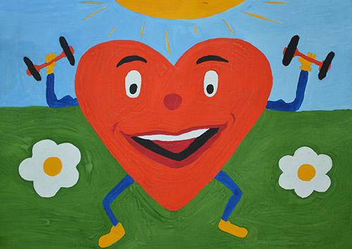 Здоровое сердце поделка